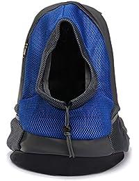 mochila bolsa bolso hombro para llevar mascotas gatos y perros a salir y viajar con abertura