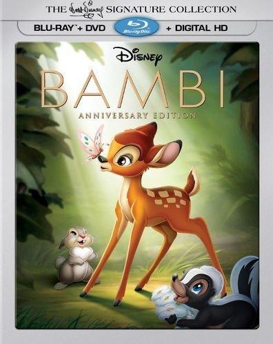 Disney Bambi Anniversary Edition (Blu-ray + DVD + Digital HD) Collectible Linsenraster Verpackung