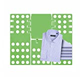 ETiME einstellbar Wäsche Faltbrett 3. Generation Falthilfe Wäschefaltbrett Hemdenfalter Wäsche Ordner (Grün)