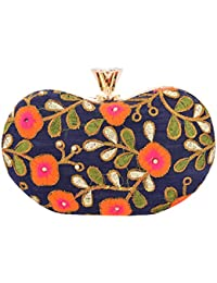 Arisha Kreation Co Clutch with Removable Sling (Multicolor)