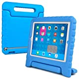 iPad 2, 3, 4 kids case, COOPER DYNAMO Heavy Duty Children's Rugged Tough Bumper Hard Protective Case Cover with Built-in Handle, Stand & Free Screen Protector for Apple iPad 2, 3, 4 (Blue)