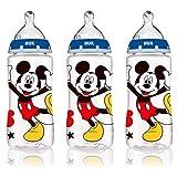 Disney Baby, KFO-Flaschen, Medium, Blau, 0+ Monate, 3 Flaschen - NUK