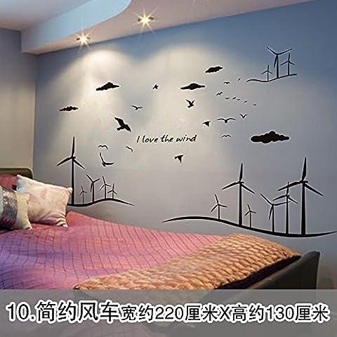 La cabecera de la cama sofá Dormitorio Dormitorio paredes decoradas con venda autoadhesiva de papel para pared personalidad continental candelabros carteles, minimalista Molino de papel tapiz(1*3pcs)