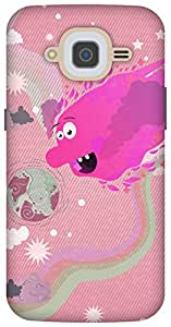 The Racoon Grip printed designer hard back mobile phone case cover for Samsung Galaxy J2 (2016). (Sun Monste)