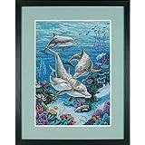 Dimensions Gezählter Kreuzstick Set, Dolphins' Domain