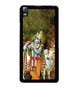 Lord Krishna 2D Hard Polycarbonate Designer Back Case Cover for Lenovo K3 Note :: Lenovo A7000 Turbo