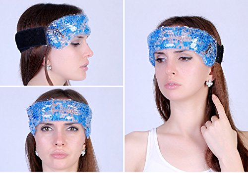 Upscale Hot Cold Therapeutic beads Head Wrap Pack to remove tension , headache, fever and sinus