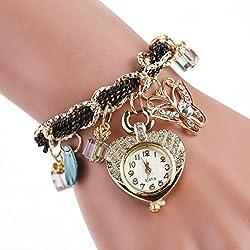 WINWINTOM Butterfly Heart-Shaped Diamond Watches