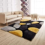 #6: SRF NEW PEBBLES DESIGN LUXURIOUS THICK PILE RUG MODERN SOFT CONTEMPORARY SHAGGY RUGS FOR YOUR HOME