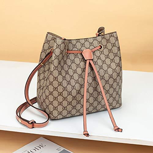 LFGCL Taschen womenSimple Eimer Tasche Handtasche Umhängetasche Diagonale Paket, Pink
