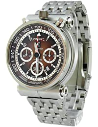 Formex 4 Speed AS1500 Limited Edition - Reloj cronógrafo de caballero automático con correa de titanio plateada (cronómetro) - sumergible a 100 metros