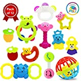 #10: Smiles Creation Attractive and Bright Colours Rattle Set Toy for Kids - Set of 12