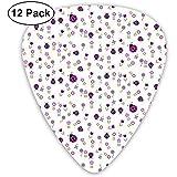 Plettri per chitarra viola Ladybug Garden Violet confezione da 12, 3 spessori di cui 0,46 mm, 0,96 mm, 0,71 mm