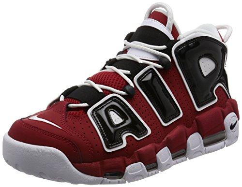 Nike Air Huarache International, Zapatillas de Running para Hombre, Blanco/Rojo/Negro (Wht/Brght Ccts-Unvrsty Rd-Blck), 42 EU