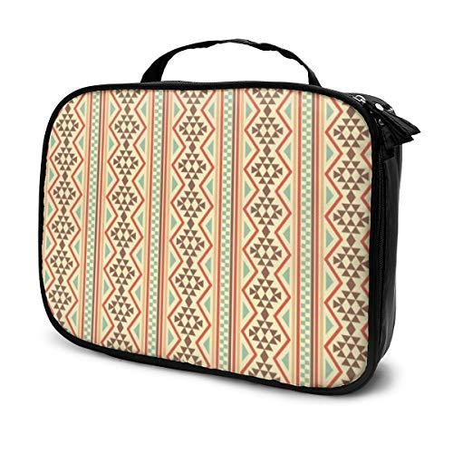 Ureinwohner-Hintergrund-Kunst-tragbare Reise-Kulturbeutel-Make-uporganisator-Kosmetik-Beutel-Tasche für Frauen-Mädchen