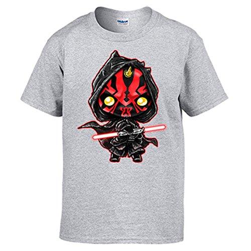 Camiseta Star Wars Darth Maul Kawaii - Gris, 7-8 años