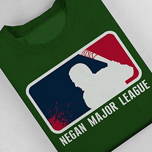 Negan Major League Baseball Walking Dead Women's Sweatshirt Bottle Green