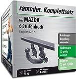 Rameder Komplettsatz, Anhängerkupplung Abnehmbar + 13pol Elektrik für Mazda 6 Stufenheck (142946-10884-1)
