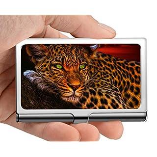 Visitenkartenetui, Leopard Katzentier Visitenkartenetui Herren Damen