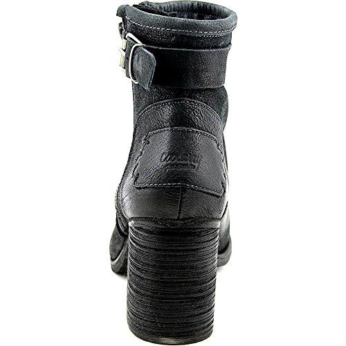 Coolway MC-22 Damen Rund Leder Mode-Stiefeletten Blk