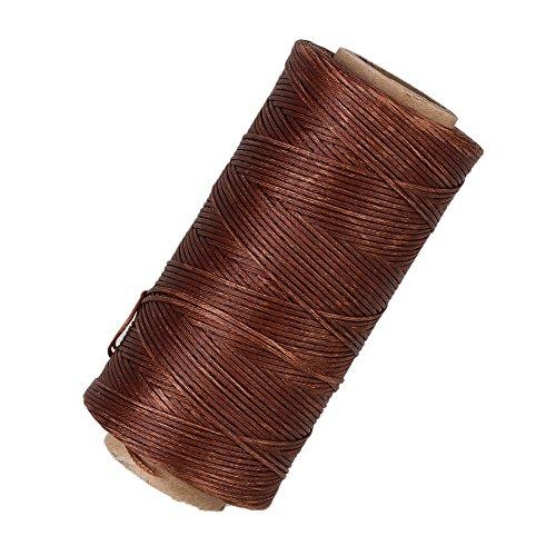 Strumento il mestiere del cuoio WEONE Brown 210D Dacron piatto incerato cera cavo del filetto per mano Stitching 180 metri