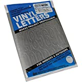 Graphic Products Lettres et Chiffres en Vinyle adhésif Permanent 7,6cm 160/Pkg-Argent