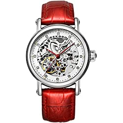 Automatic mechanical watches/Strap waterproof women's table/Fashion dial-C