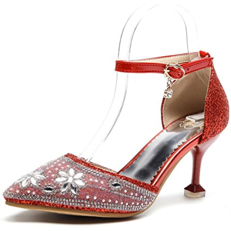 BalaMasa BalaMasa BalaMasa  s Compensées Femme - Rouge - Red, 36.5 EU - B07DTK78YS - 4798a5