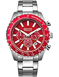 Gigandet Herren-Uhr Chronograph Analog Quarzwerk mit Edelstahlarmband Chrono King G28-005
