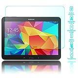 Samsung Galaxy Tab 4 10.1 Glas Schutzfolie von NALIA, 2.5D Round Edge Full-Cover Displayschutz-Folie / 9H Folie Schutz-Glas Volle Tablet Display-Abdeckung -Glasfolie - Kristall-Klar