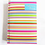 A-Z Adressbuch gepolstert, gebundenen Mini Pocket Streifen