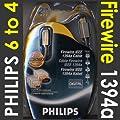 Philips Firewire IEEE1394 DV cble 6 Vers 4 Broches 2 m PC Vers DV Sortie de kenable
