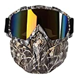 Motorcycle Goggles Mask, Aolvo Windproof Face Mask Goggles Multipurpose for Airsoft/ CS/Paintball/Skiing/Riding/Snowmobile/Cycling for Kids and Adult