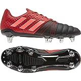 adidas Kakari Elite (SG), Chaussure de Rugby Homme, Core Black/Signal Coral/Scarlet, 39 1/3 EU