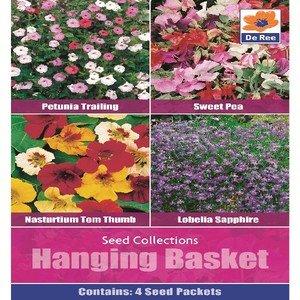 De Ree Sweet Pea Petunia Trailing Kapuzinerkresse & Saatgut Lobelie Garden Flower Plant 1300 Samen H/B - Petunia Trailing