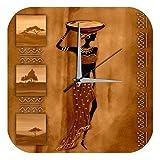 Wanduhr Abenteurer Wand Deko Marke afrikanische Frau Tongefä? auf dem Kopf Dekouhr 25x25 cm