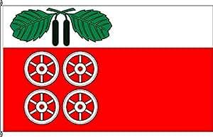 Tischfähnchen Barsbüttel - Tischflaggenständer aus Holz