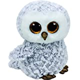 Carletto Ty 37201 - Owlette - Eule mit Glitzeraugen, Glubschi's, Beanie Boo's, 15 cm, weiß