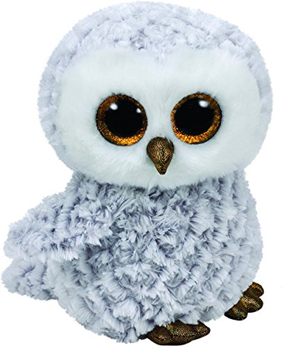 Preisvergleich Produktbild Carletto Ty 37201 - Owlette - Eule mit Glitzeraugen, Glubschi's, Beanie Boo's, 15 cm, weiß