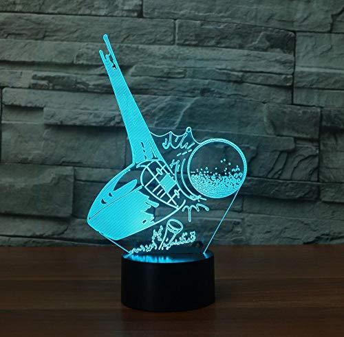 3D Led Bunte Gradienten Leuchten Kreative Acryl Golf Ball Kickoff Tischlampe Schlaf Nachtlicht Schlafzimmer Atmosphäre Decor Fernbedienung