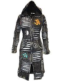 Shopoholic Modo Desgastado out Mujer EMO gótico Recortado Abrigo Largo ba557bcfb68d3