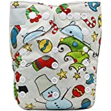 Fairy Baby Christmas Cloth Diaper Adjustable Baby Nappy With Insert Gift Set - B01KWZZMM8