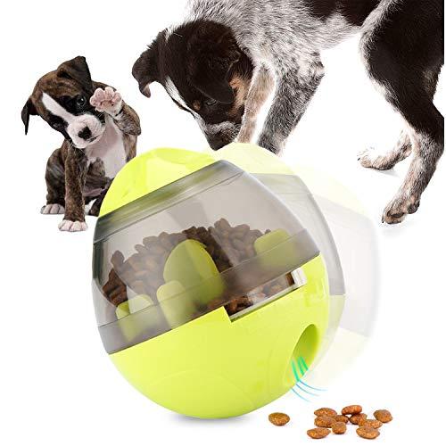 UIQELYS Hundespielzeug Ball, Haustierfutter Spielzeug IQ Behandeln Ball Interaktives Hundespielball Leckerli-Spender Snackball für Hunde und Katze
