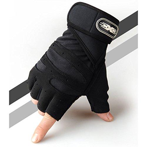 LnLyin Halb Knie Handschuh Herren Sport Fitness Handschuhe Training Taktische Handschuhe Halb Bezieht Outdoor Anti Rutsch Reithandschuhe