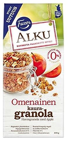 Fazer - Hafergranola mit Apfelstückchen Frühstückscerealien Müsli - 400g