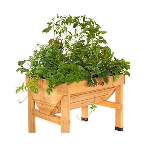 Mesa de cultivo de madera Vegtrug mediana