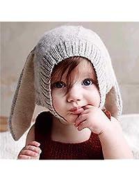 5af20adfb80c8 okaler All  ganchillo para tapón Orejas de conejo invierno cálido orejeras  gorro 0 – 5