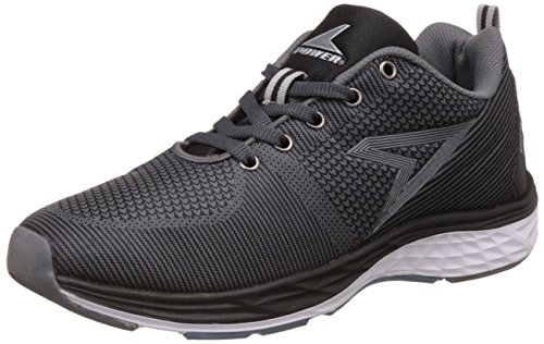 Power Men's Byron Black Running Shoes - 8 UK/India (42 EU)(8396015)