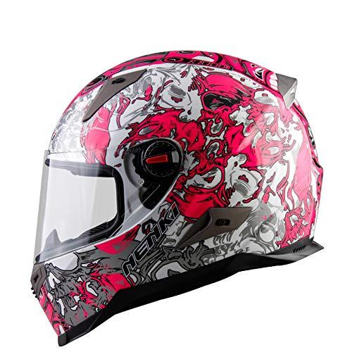Goolife Casco Modulare Moto Crash High Safety-NENKI Casco Integrale Da Motociclista Con Visiera Parasole Per Uomo Adulto Donna,XXL