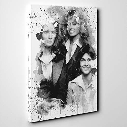 Arty Pie Canvas Print 30 x 20 inch (76 x 50 cm) Charlies Angels Original Cast V3, Wood, Multi-Colour, 76 x 50 x 3 ()
